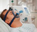 Non-invasive respiratory CPAP ventilation of obese patients before laparoscopic surgeries